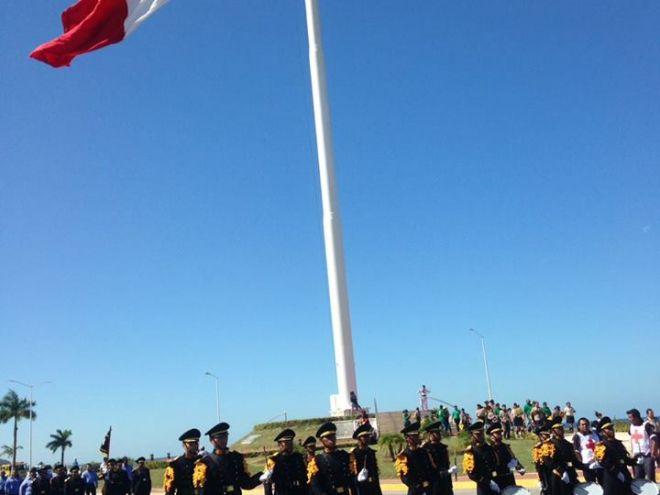 Banda de Guerra en la ceremonia del Aniversario de la Revolución Mexicana