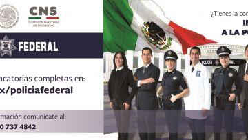 Convocatoria oferta laboral de la Policía Federal