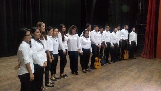 Integrantes del Taller de Música, a cargo del Mtro. Martín Pacheco