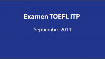 Examen TOEFL ITP